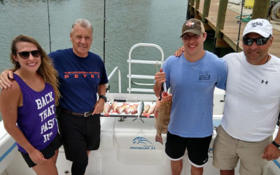New Smyrna Snapper Fishing Charter while Traveling Offshore